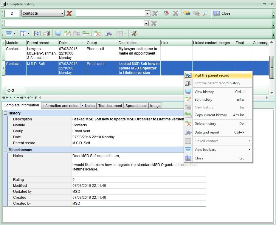 MSD Organizer: one of the Best Organizer Software, PIM