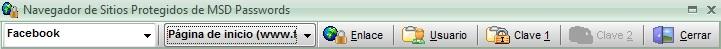 Navegador MSD Passwords con título