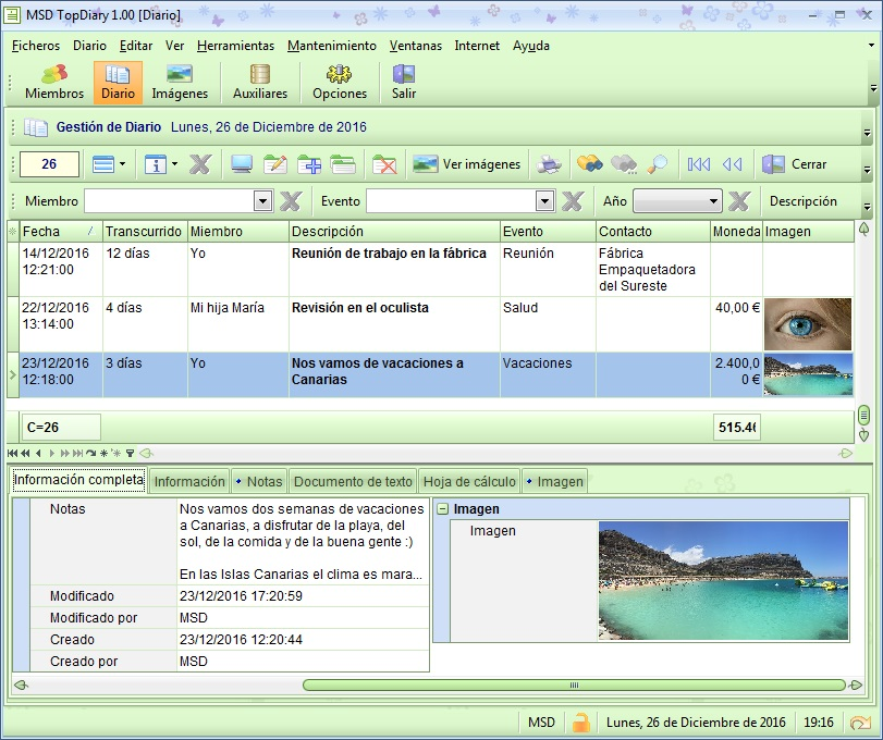 MSD TopDiary 1.00 módulo Diario