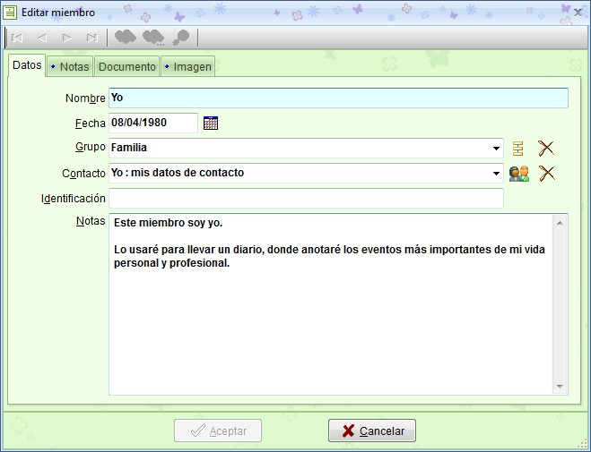 MSD TopDiary 1.00 edición de registros del módulo Miembros