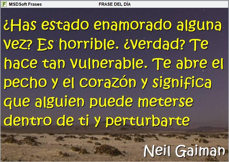 Frases inspiradoras - MSDSoft Frases - Neil Gaiman - ¿Has estado enamorado alguna vez?